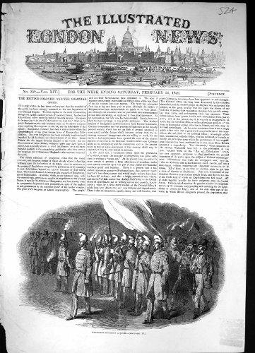 Copie Antique de la Guerre 1849 de Rome Italie de Cortège de Torche Soldeirs par original old antique victorian print