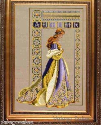 Celtic Autumn Cross Stitch Pattern by Lavender and Lace (Lace Kleid Lavender)