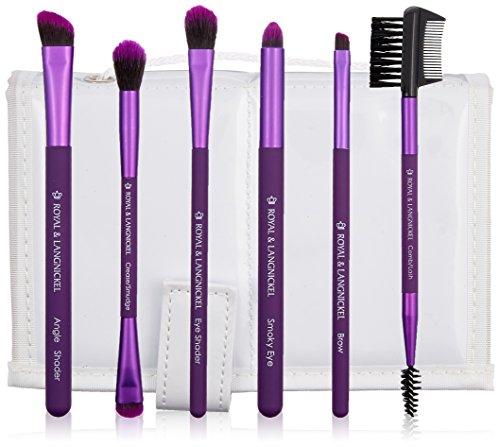 Royal Brush Moda Beautiful Eyes Brush Set and Case, Purple by ROYAL BRUSH