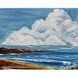 West of Ireland - Irische Landschaft, von Owen Harris aus Irland, gerahmtes Oelgemaelde, original. KOSTENLOSER VERSAND