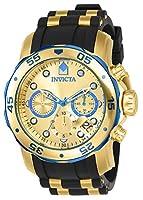 Invicta 17887 Pro Diver - Scuba Reloj para Hombre acero inoxidable Cuarzo Esfera oro de Invicta