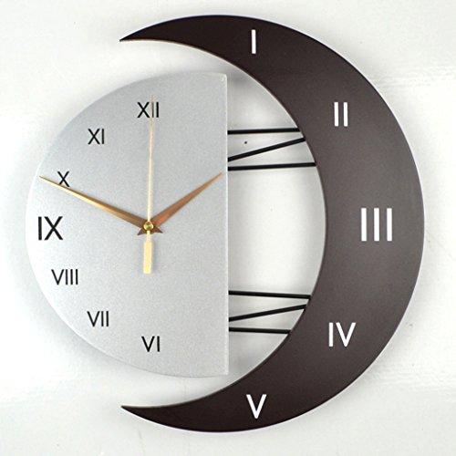 horloge murale européenne Salon Horloge de Luxe Art Jardin décorative Personnalité créative Horloge Horloge Mute (Taille : 31 * 32cm, Style : B)