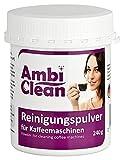 AmbiClean Reinigungspulver für Kaffeemaschinen, 240 g ★ Gründlich ★ Geschmacksneutral ★ Schnell   Reiniger mit Aktivsauerstoff für Kaffeevollautomaten   Kaffeefettlöser für Espresso-Maschinen