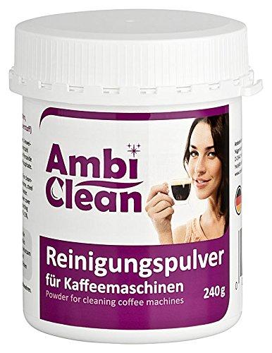 AmbiClean Reinigungspulver für Kaffeemaschinen, 240 g  Gründlich  Geschmacksneutral  Schnell |...