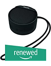 (Renewed) Philips BT40BK/94 Portable Wireless Bluetooth Speaker (Black)
