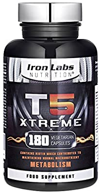 T5 Xtreme (180 Capsules) | Thermogenic | Fat Burner Supplement - support Weight Loss Diets | UK Made from Iron Labs Nutrition