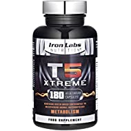 Iron Labs T5 Xtreme - 180 Capsules | Effective & Safe Formula - Supports Metabolism | Use alongside your weight management diet | FULL Money Back Guarantee - Exclusively made in the UK