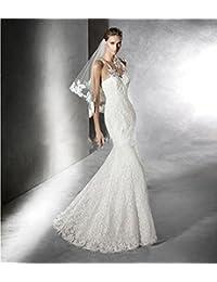 312d6ad5d7b8 LUCKY-U Vestito da Sposa Abito da Sposa Alta qualità Vestito Elegante Lungo  Layered Sirena Abiti da Sposa Abito…