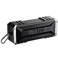 Descrizione VTIN Premium altoparlanti stereo Punker Bluetooth Doppio 10 piloti watt e un radiatore passivo per migliore esperienza di ascolto. La tecnologia di cancellazione del rumore avanzata per Crystal discorsi chiariDriver del Dualten-wa...