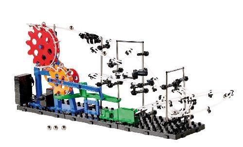 Playtastic Bausatz: Kugel-Achterbahn Schwierigkeitsstufe I, 219 Teile (Konstruktionsspielzeug)