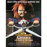 CHUCKY LA POUPEE DE SANG Affiche de film - 120x160 cm. - 1990 - Alex Vincent, John...