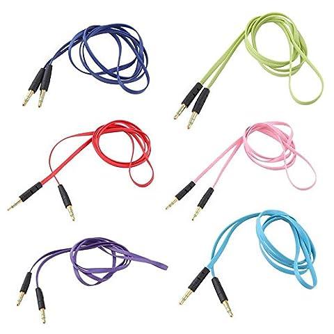 janedream 23,5mm 1m-Verbindungskabel Audio Erweiterung Colorful Audio AUX Kabel rot himmelblau