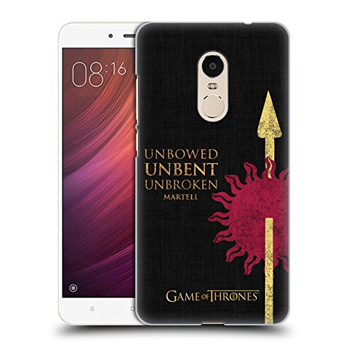 official-hbo-game-of-thrones-martell-house-mottos-hard-back-case-for-xiaomi-redmi-note-4