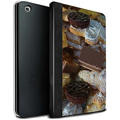 STUFF4 PU Pelle Custodia/Cover/Caso Libro per Apple iPad Mini 1/2/3 tablet / Dolci al Cioccolato / Cibo di Natale disegno