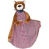 SIGIKID 38798 Bear Comforter Toy, 45 x 45 x 11 cm