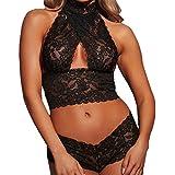 Sous-vêtements Sexuels,Yannerr® Femmes Sexy Lingerie Dentelle Sous-Vêtements Vêtements de Nuit Vêtements de Nuit Body Temptation (XL, Noir)