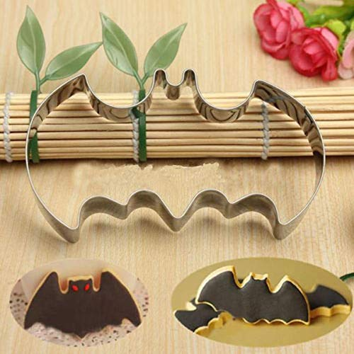 ss Steel Batman Cake Mold Cookie Biscuit Cutter Halloween Baking Pastry Mould B - Cake Lamb Alphabet Baking Unicorn Molds Letters Square Sets Giraffe Women Mermaid Baby H ()