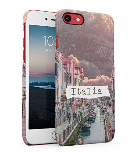 Hülle Hardcase Kompatibel mit iPhone 7 / 8 Venedig Italien Ausflug Italy Pink Travel Explore Cityscape Road Canal River Sky Clouds Venice Adventure Vintage Photo eng Anliegendes, Dünnes Handyhülle River Road Matte