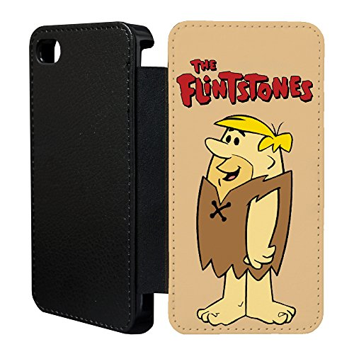 ro Vintage Flintstones Cartoon Flip Case Hülle für Apple iPhone 6 & 6S - T12 - tf845 - The Flintstones Barney ()