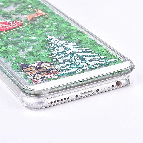 iPhone 7 Plus Hüllen, iPhone 8 Plus Hülle Schwarz, iPhone 7 Plus Handyhülle, SpiritSun Gute Festigkeit und Schwer Anti-Fall Ultradrünn Handyhülle Schutz Hülle Schale mit PC Stoßdämper Hart Cover Case  Weihnachtsbaum