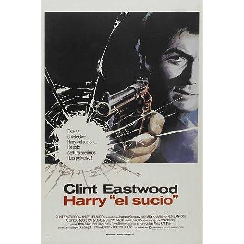 Cartel de la película Harry el sucio español 11 x 17 - 28 cm x 44 cm Clint Eastwood Harry Guardino alerces Andrew (Andy) John Robinson Reni Santoni John