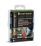 Chameleon Art Products CT4514 5 Color Tops-Accessoires Chameleon pour des dégradés de Couleurs Tons Nature, Naturel