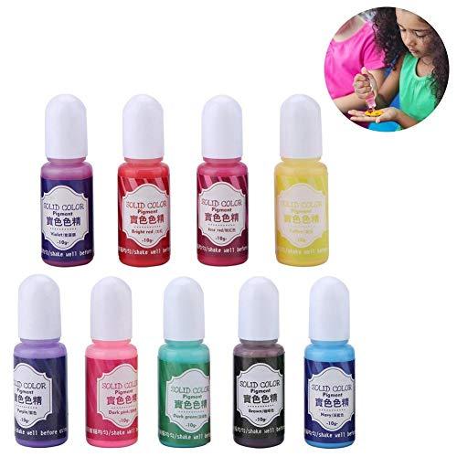 Kireina UV Harz Epoxid Pigment, 9 Farbe Farbstoff Farbmittel Pigment für DIY Kunsthandwerk Und Dekoration (2#) -