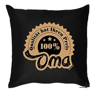 Kissen/Dekokissen mit Füllung für Omis: 100% Oma