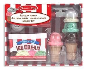 Melissa & Doug Scoop and Stack Ice Cream Cone Magnetic Pretend Play Set