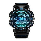 Herren Jungen Uhren Schwarz Analog Digita Sport Wasserdicht Militär Multifunktions-Armbanduhr Entwerfer-beiläufige LED-Rücklicht-elektronische Schock-beständige Sport-Uhren für Mens-Jungen Teenages