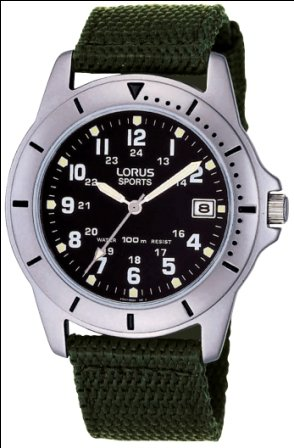 Lorus RXH001L9 Men's Analogue Canvas Strap Watch