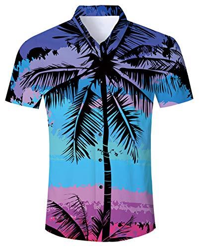 Funny Club (Funnycokid Herren Hawaiihemden Oberteile Bedruckte Kurzarmhemden Funny Night Club Herrenoberteile)