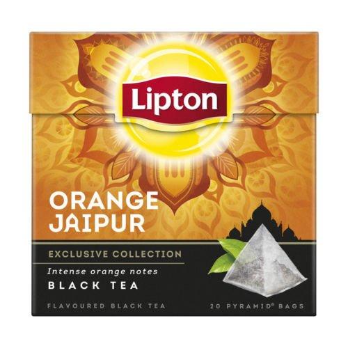 5 x Lipton Orange Jaipur Black Tea Tee (5 x 20 Teebeutel) - Tee-orange Lipton