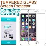 """Kingtop Nillkin Protector Cristal Templado para Apple iPhone 6 4.7"""" Blanco -Increíble CP + Mejor y Más Grande Protector Cristal Templado de Pantalla Protegiendo la vista"""