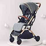 WYNZYYESTC El cochecito del bebé, el cochecito puede sentarse reclinable, ultra ligero, portátil, plegable, paraguas para bebé, con cuatro ruedas, carrito para niños, plegado con una sola mano, puede