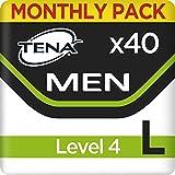 Tena Men Level 4 Pants Large, Monats-Paket mit 40 Pants (4 Packungen je 10 Einweghöschen)