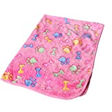 Befaith Warme Haustier-Matten-Knochen-Druck-Katze-Hundewelpen-Vlies-weiches Decken-Bett-Kissen Rosa Knochen 20*20cm