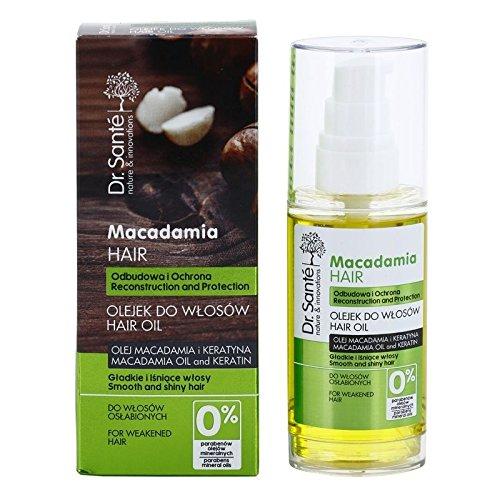 Dr. Santé Huile pour cheveux Macadamia et kératine 50 ml cheveux abîmés et huiles minérales