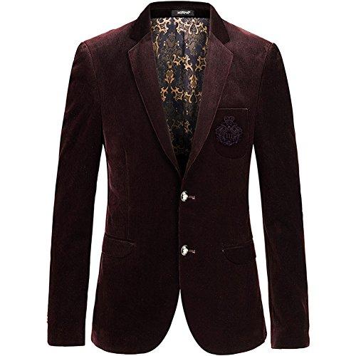 Insun -  Giacca da abito  - Maniche lunghe  - Uomo Burgundy 2 button 54