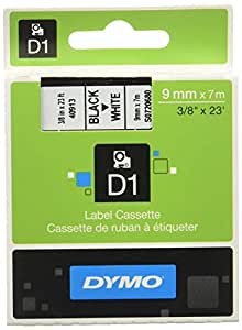 Dymo S0720680 D1-Etiketten (Selbstklebend, für den Drucker LabelManager, 9 mm x 7 m Rolle) schwarz auf weiß