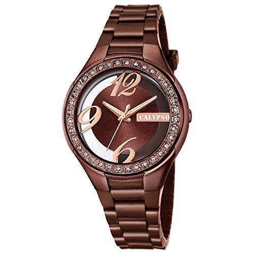 827d6166d2c0 Calypso de mujer reloj de pulsera Fashion Analog PU de pulsera reloj ...