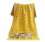 [Gelb] Baumwolle Kinder und Erwachsene Strandtücher Badetuch