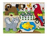 Melissa & Doug Holzpuzzle mit klobigen Teilen - Haustiere (20 Teile)