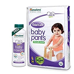 Himalaya Total Care Baby Pants (Extra Large 54 Count) with Baby Powder 400g