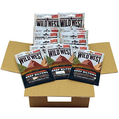 Wild West Chilli Beef Biltong Box of 12 x 35g Packs