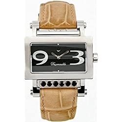 Faconnable Women's Quartz Watch with Black Dial Analogue Display Quartz Beige Fdrsc