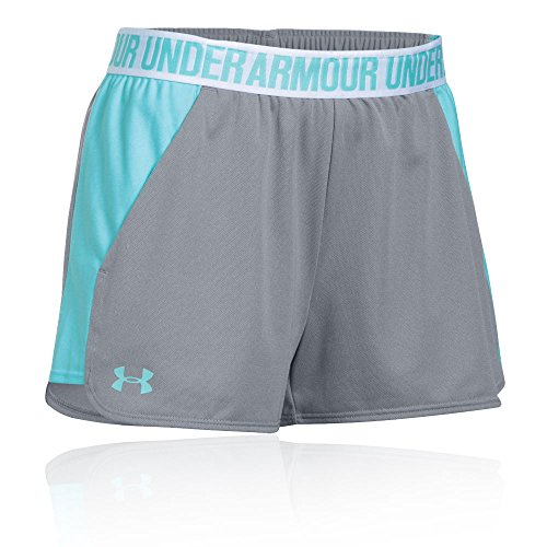 Under Armour Damen Play Up Shorts 2 Kurze Hose, True Gray Heather/Blue Infinity, - Elite-basketball-tasche