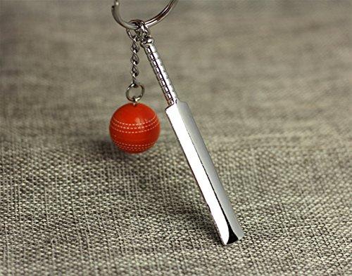 Sun Hero Nette Hängende Dekoration Cricket Anhänger Metall Schlüsselanhänger Geldbörse Handtasche Auto Charme Keychain Geschenk (rot)