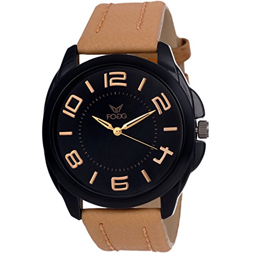 Fogg Analog Black Dial Men\'s Watch 1121-BK
