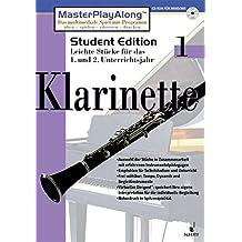 MasterPlayAlong, Student Edition 1, CD-ROMs : Klarinette, 1 CD-ROM Für Windows 95/98. Leichte Stücke für d. 1. u. 2. Unterrichtsjahr